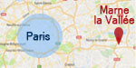 Carte localisation Marne-la-Vallee