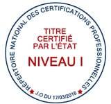 Titre certifie RNCP niveau I de l 'esm-a formation en alternance