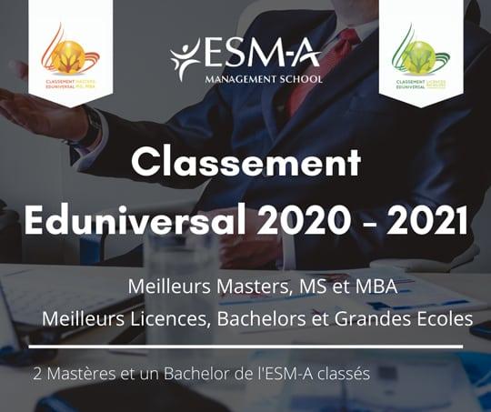Classement Eduniversal ESM-A 2021